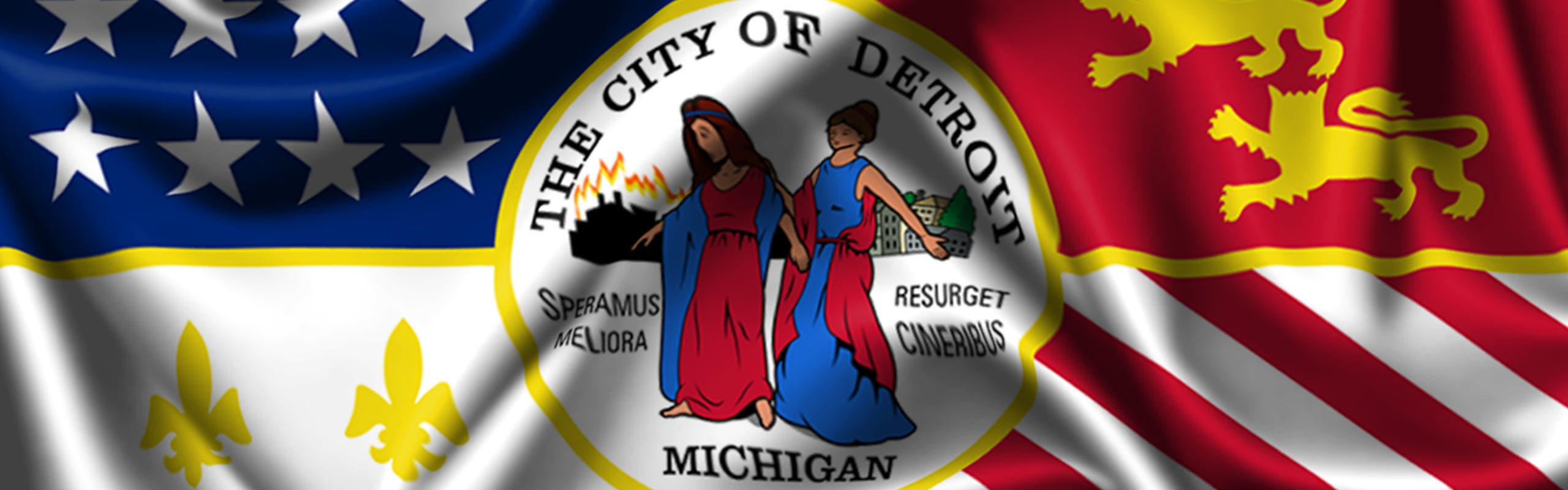 flag of detroit